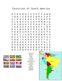 Countries of South America Word Search