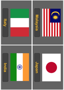 Countries of The World - Poster, Bingo, Flashcards, Worksheet