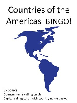 Countries of the Americas BINGO!