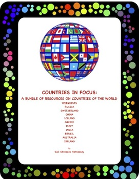 Countries of the World(A Bundle of Webquests )Distance Learning