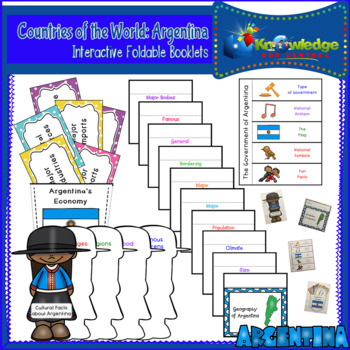 Countries of the World: Argentina Interactive Foldable Booklets