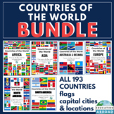 Flags of the World: World Flags with Country Name, Capitals, & Map Location