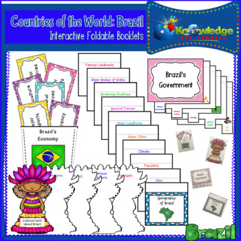Countries of the World: Brazil Interactive Foldable Booklets
