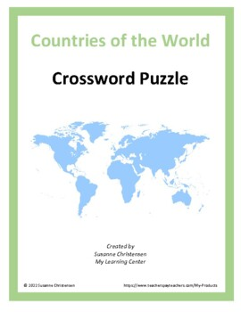 World map puzzle teaching resources teachers pay teachers countries of the world crossword puzzle countries of the world crossword puzzle gumiabroncs Image collections