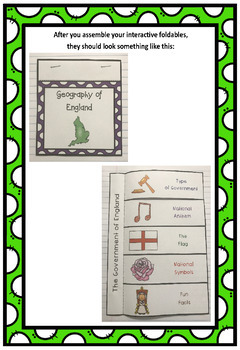 Countries of the World: England Interactive Foldable Booklets