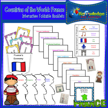 Countries of the World: France Interactive Foldable Booklets