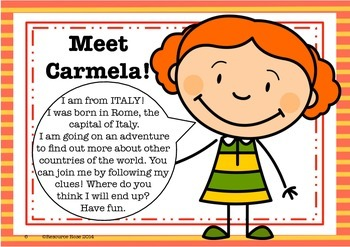 Countries of the World- Class Project - Follow Carmela's Clues!