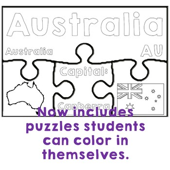 Countries of the World Geography Puzzles