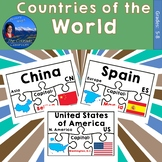 Countries of the World Geography Puzzles Bundle