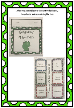 Countries of the World: Germany Interactive Foldable Booklets