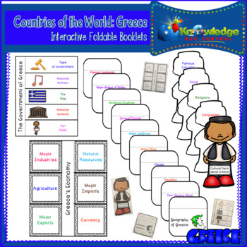 Countries of the World: Greece Interactive Foldable Booklets
