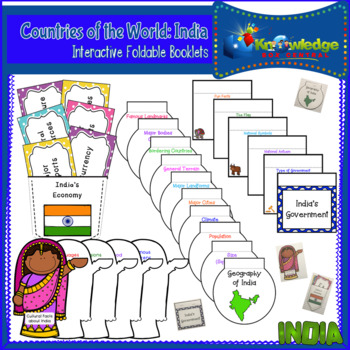 Countries of the World: India Interactive Foldable Booklets