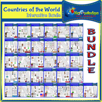 Countries of the World Interactive Foldable Booklets BUNDLE