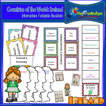 Countries of the World: Ireland Interactive Foldable Booklets