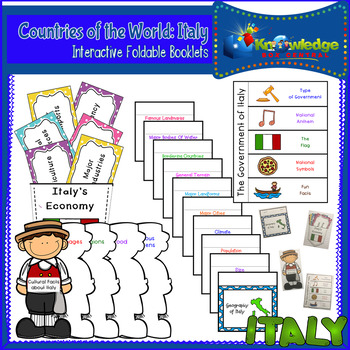 Countries of the World: Italy Interactive Foldable Booklets