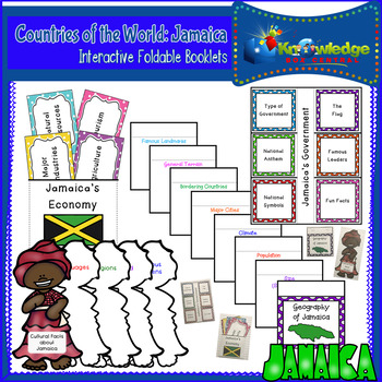 Countries of the World: Jamaica Interactive Foldable Booklets