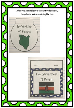 Countries of the World: Kenya Interactive Foldable Booklets