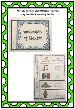 Countries of the World: Mexico Interactive Foldable Booklets