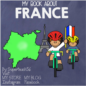 Countries of the World: My Book About FRANCE* SPECIAL EDUCATION*