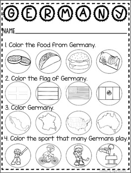 Countries of the World: My Book About GERMANY * SPECIAL EDUCATION*