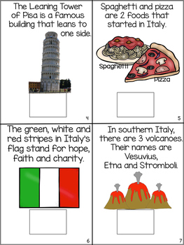 Countries of the World: My Book About Italy * SPECIAL EDUCATION*