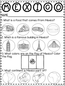 Countries of the World: My Book About MEXICO * SPECIAL EDUCATION*