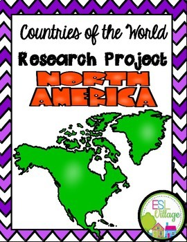 Freebie | Countries of the World | North America {Research Project}