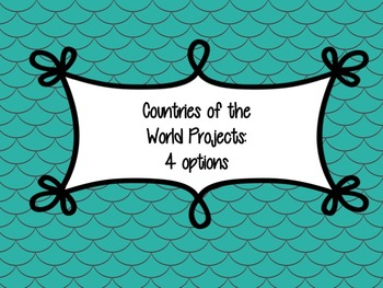 Countries of the World Project - 4 options