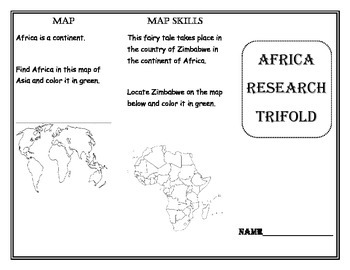 Countries of the World Research Trifold Unit