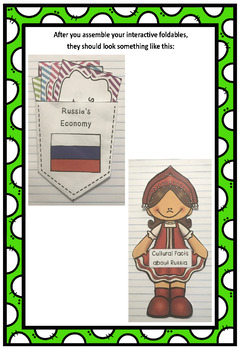 Countries of the World: Russia Interactive Foldable Booklets