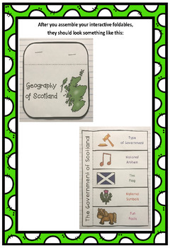 Countries of the World: Scotland Interactive Foldable Booklets