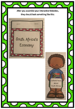 Countries of the World: South Africa Interactive Foldable Booklets