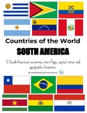 Countries of South America: Flags, capital cities & locations