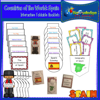 Countries of the World: Spain Interactive Foldable Booklets