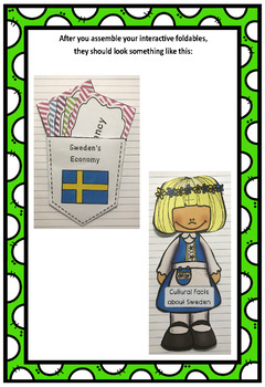 Countries of the World: Sweden Interactive Foldable Booklets