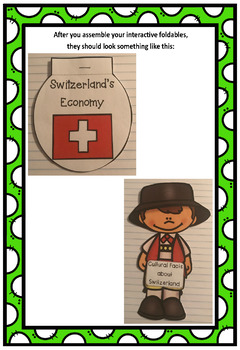 Countries of the World: Switzerland Interactive Foldable Booklets