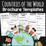 Countries of the World Travel Brochure Templates Geography & Culture