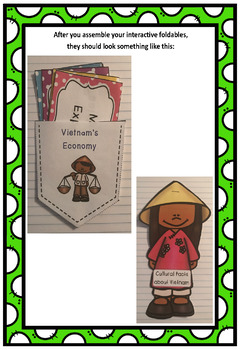 Countries of the World: Vietnam Interactive Foldable Booklets