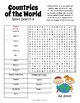 Countries of the World Word Search - 8 Puzzle Bundle