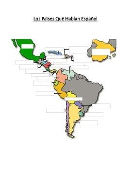 Countries that speak Spanish map