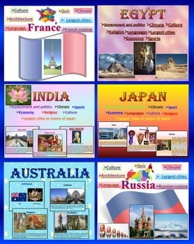 Countries - BUNDLE - Japan - India - Australia - Egypt - R