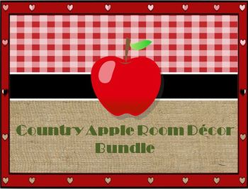 Country Apple Decor Bundle (Editable)