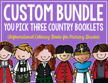 Country Booklets CUSTOM BUNDLE! (3 Booklets)