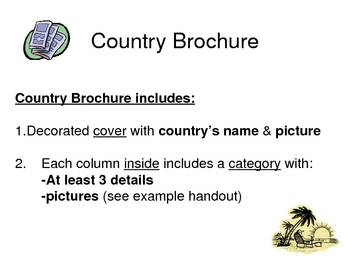 Country Brochure - World Geography Project