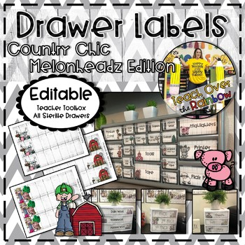 Country Chic Drawer Labels- Melonheadz Edition