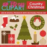 Country Christmas Clip Art (Digital Use Ok!)