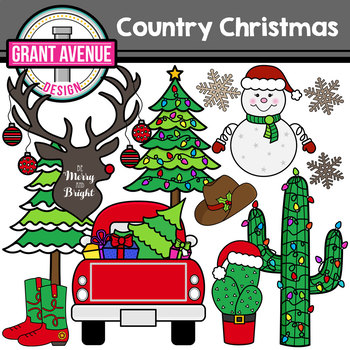 country christmas clipart by grant avenue design tpt rh teacherspayteachers com country christmas clip art images country christmas tree clipart