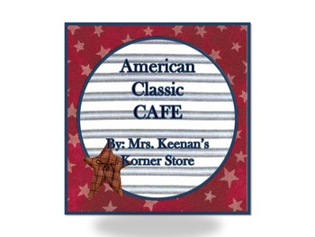 Country Classic American CAFE sign