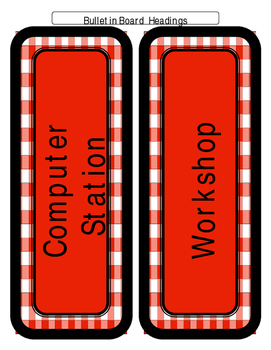 Country Classroom Decor - Upper Grade