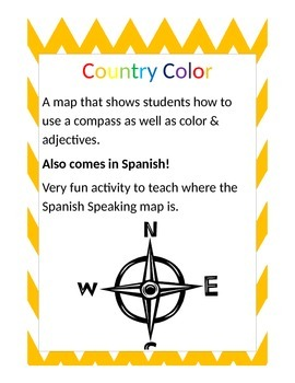 Country Coloring Activity